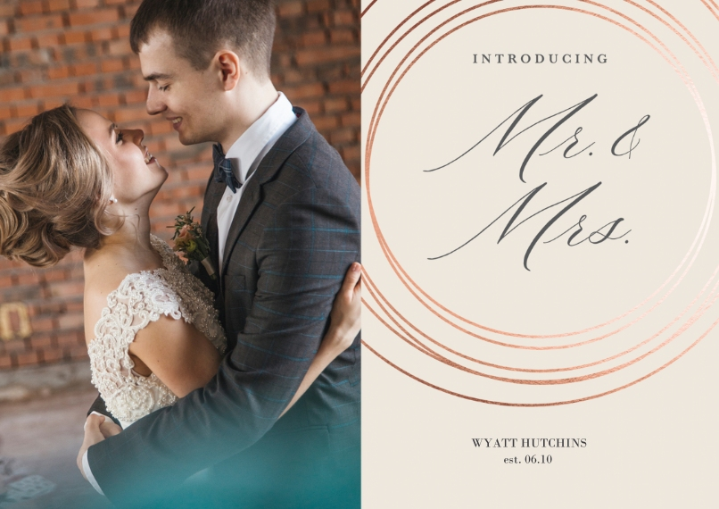 Save the Date 5x7 Cards, Premium Cardstock 120lb with Scalloped Corners, Card & Stationery -Marvelous Matrimony Announcement
