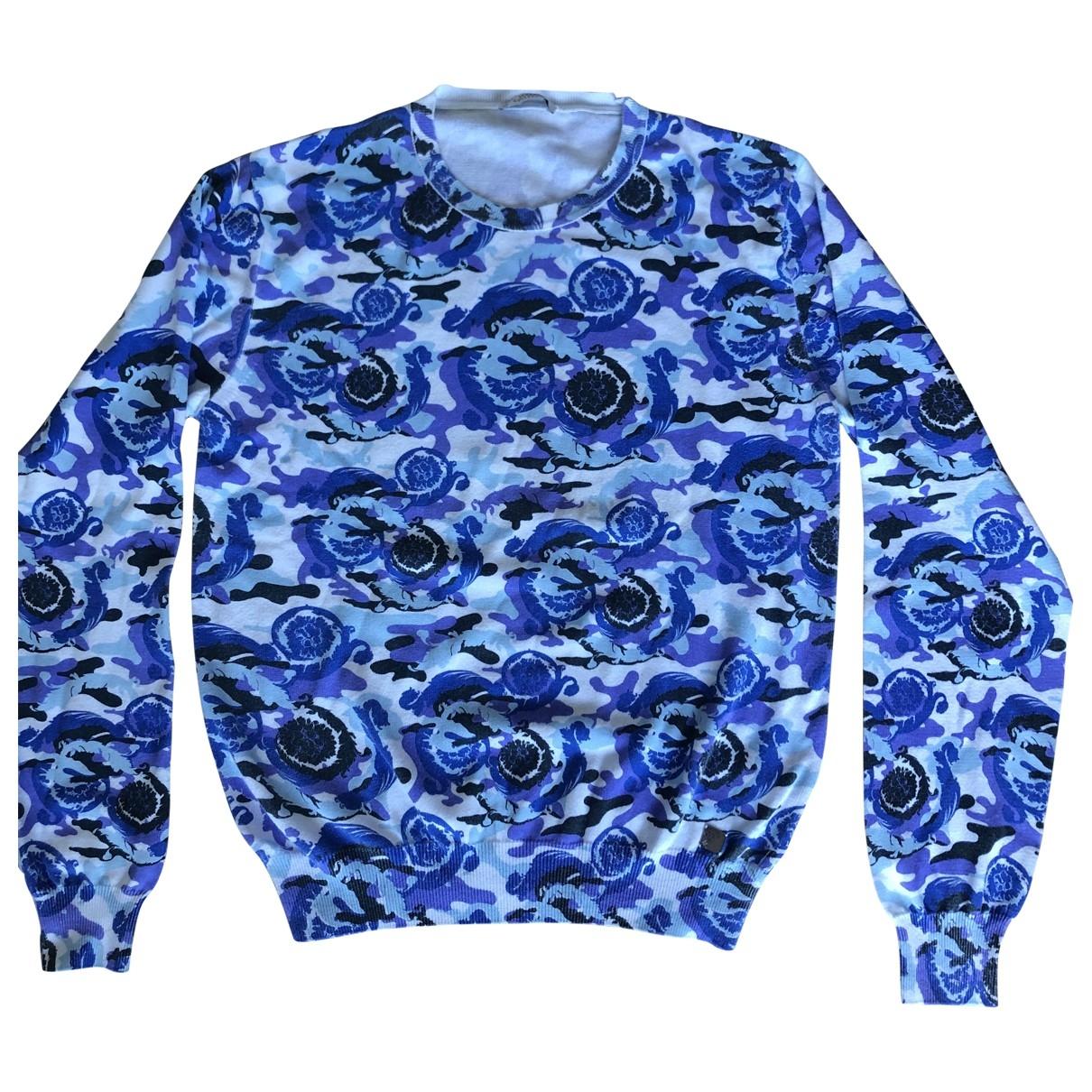 Versace \N Pullover.Westen.Sweatshirts  in  Blau Baumwolle