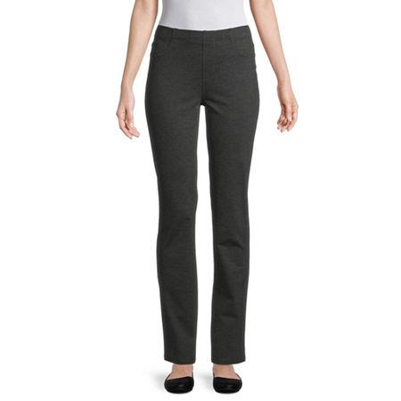 St. John's Bay Womens Full Length Leggings, Petite X-large , Gray