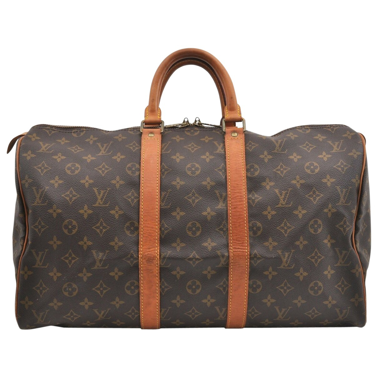 Louis Vuitton Keepall Brown Cloth Travel bag for Women N
