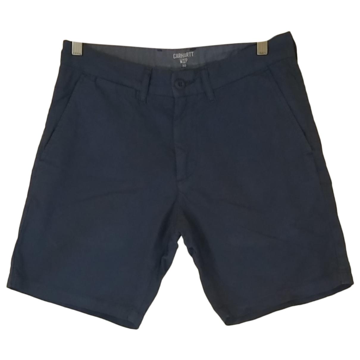 Carhartt N Blue Cotton Shorts for Men M International
