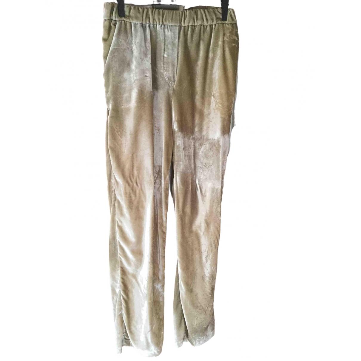 Bellerose - Pantalon   pour enfant en velours - ecru