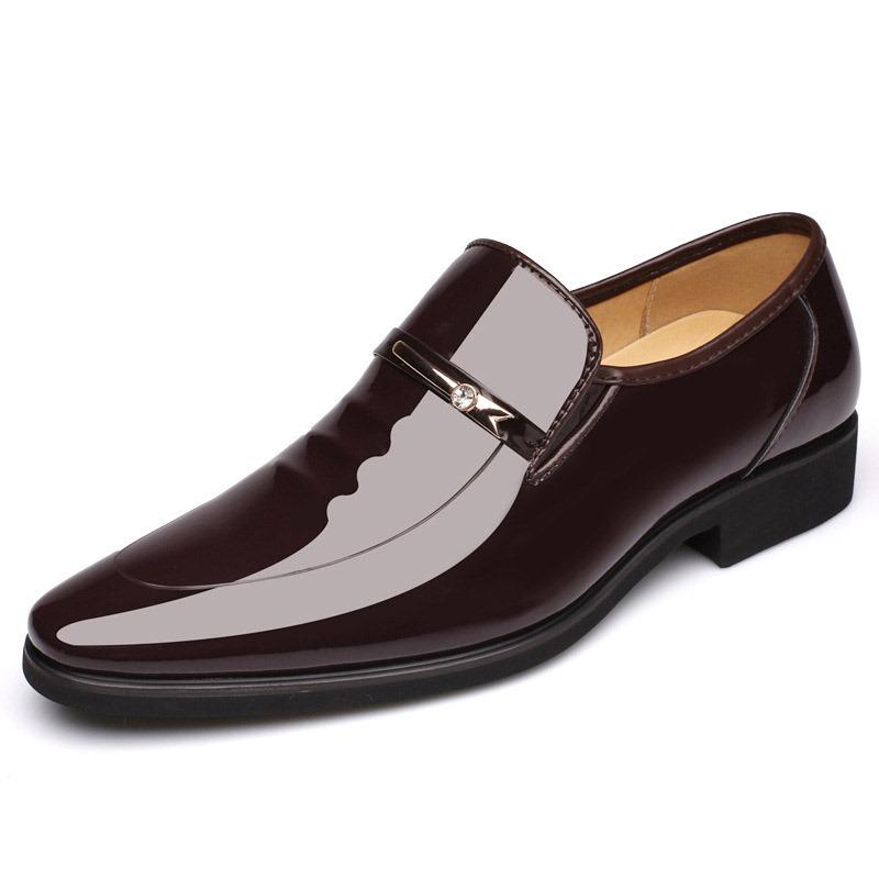 Ericdress Plain Sequin Round Toe Men's Dress Shoes