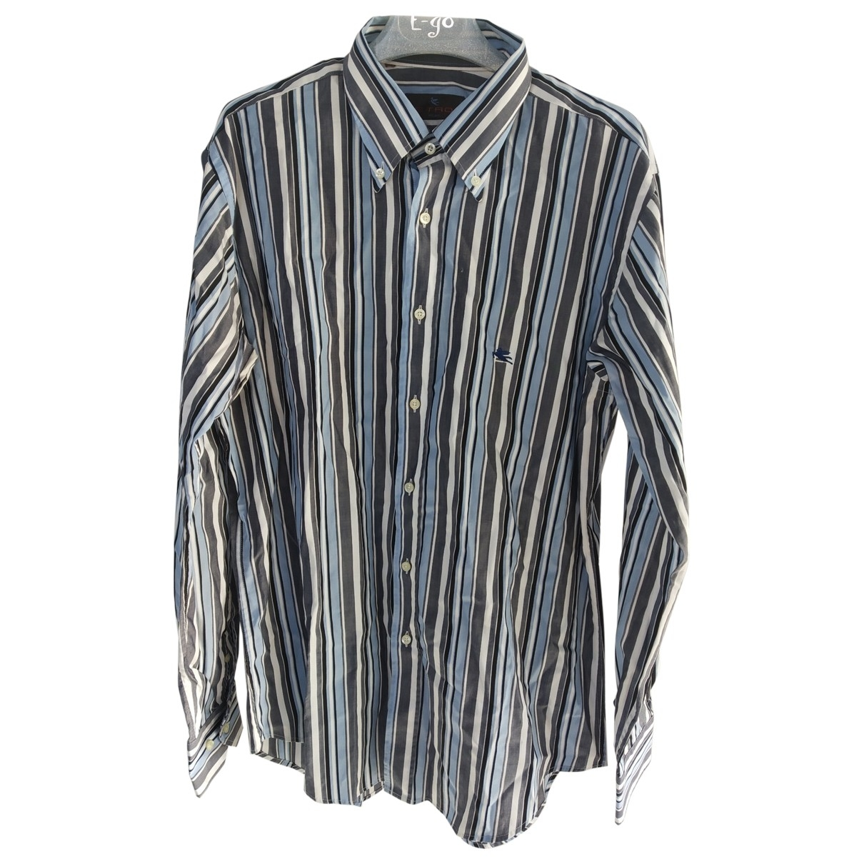 Etro \N Multicolour Cotton Shirts for Men 41 EU (tour de cou / collar)