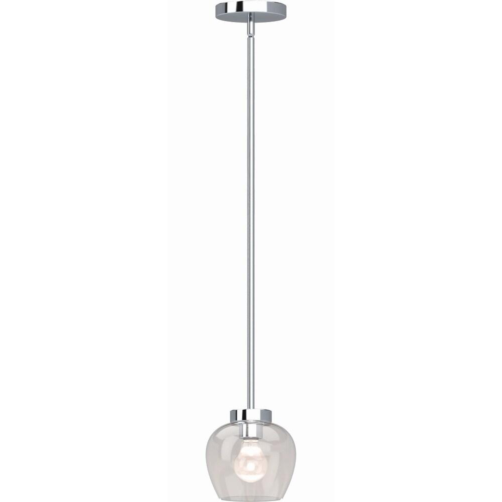 Volume Lighting Aria 1-Light Polished Nickel Mini Pendant