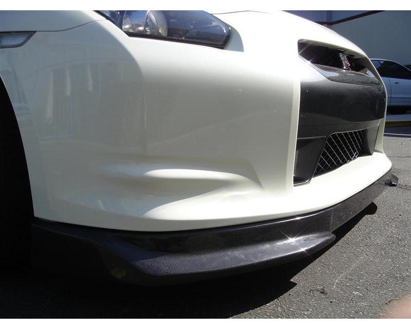Titek R35-1031D Matte Carbon Fiber Front Lip Spoiler Nissan R35 GT-R 09-11