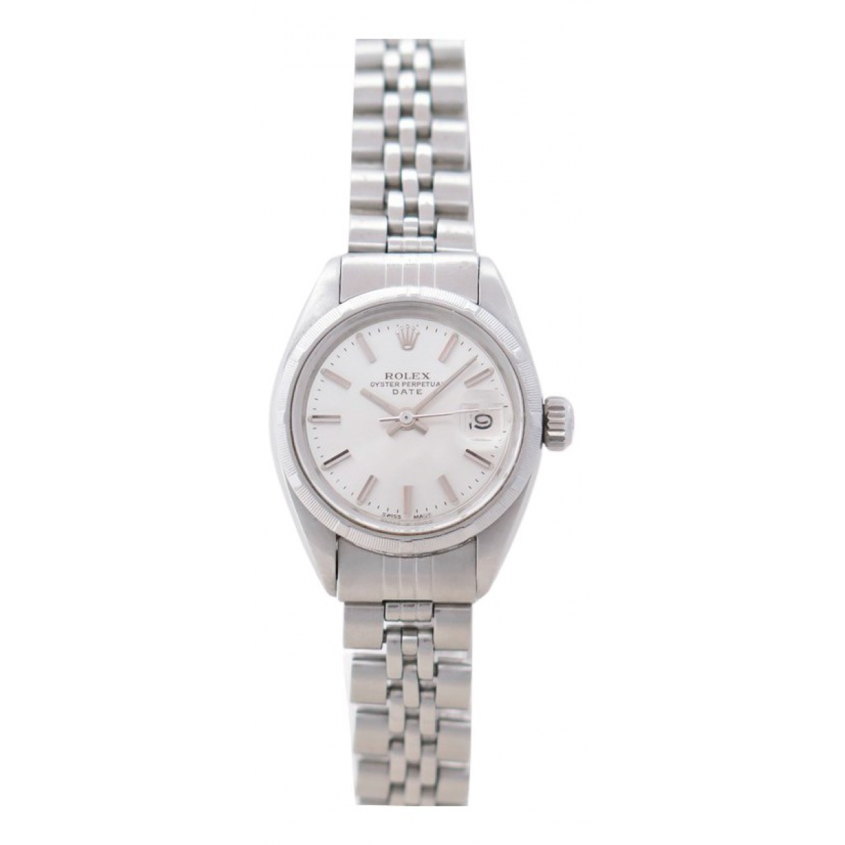 Rolex Lady Oyster Perpetual 24mm Uhr in  Silber Stahl