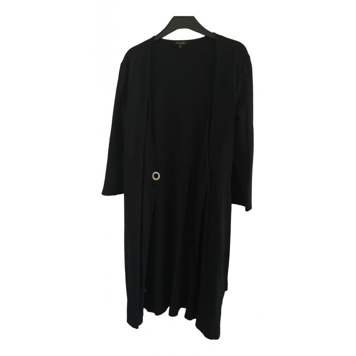 Massimo Dutti \N Kleid in  Schwarz Baumwolle - Elasthan