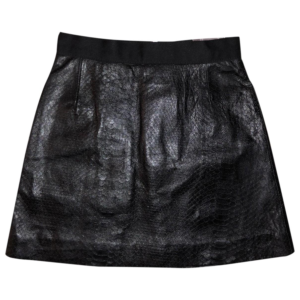 Giambattista Valli X H&m - Jupe   pour femme en cuir - noir