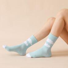 Farbblock Socken