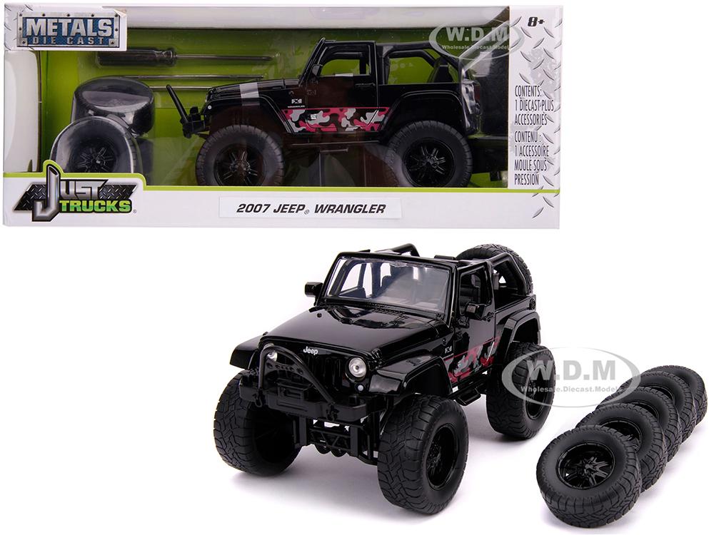 2007 Jeep Wrangler Black with Extra Wheels