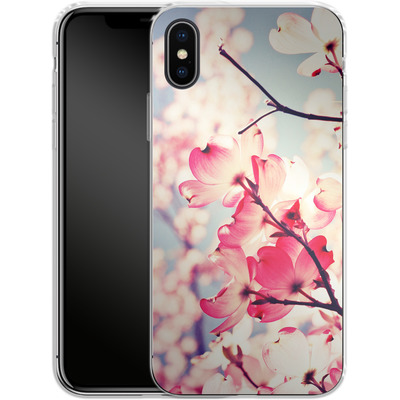 Apple iPhone X Silikon Handyhuelle - Dialogue With The Sky von Joy StClaire