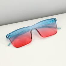 Men Rivet Decor Sunglasses