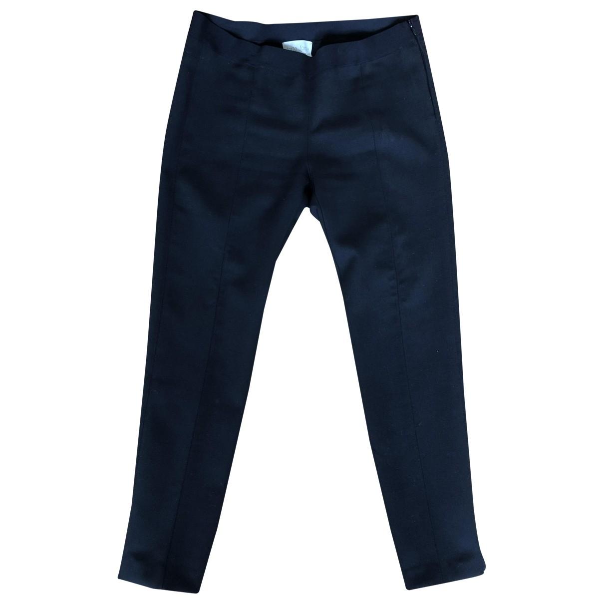 Forte_forte \N Black Wool Trousers for Women 2 0-5