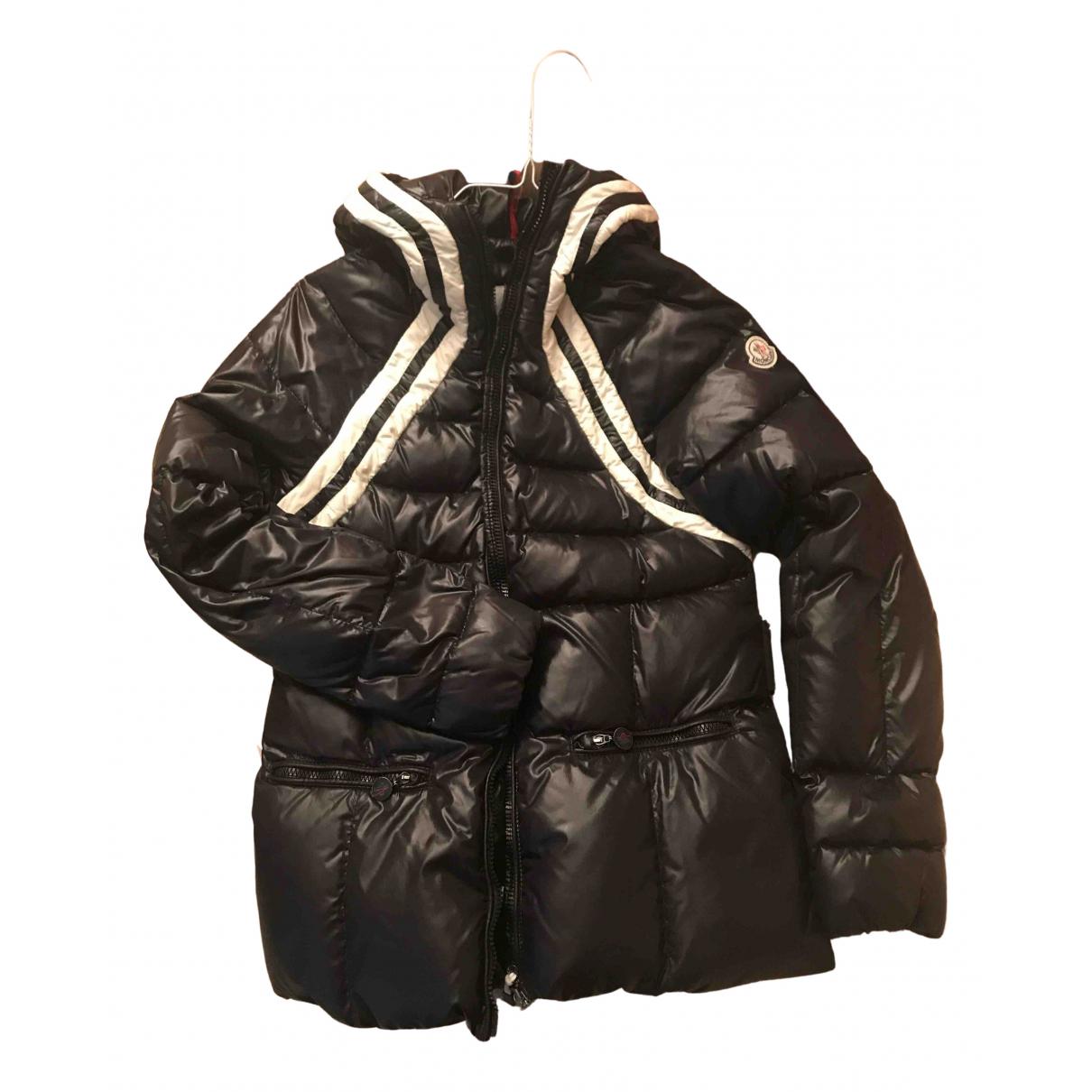 Moncler - Manteau   pour femme en fourrure - noir