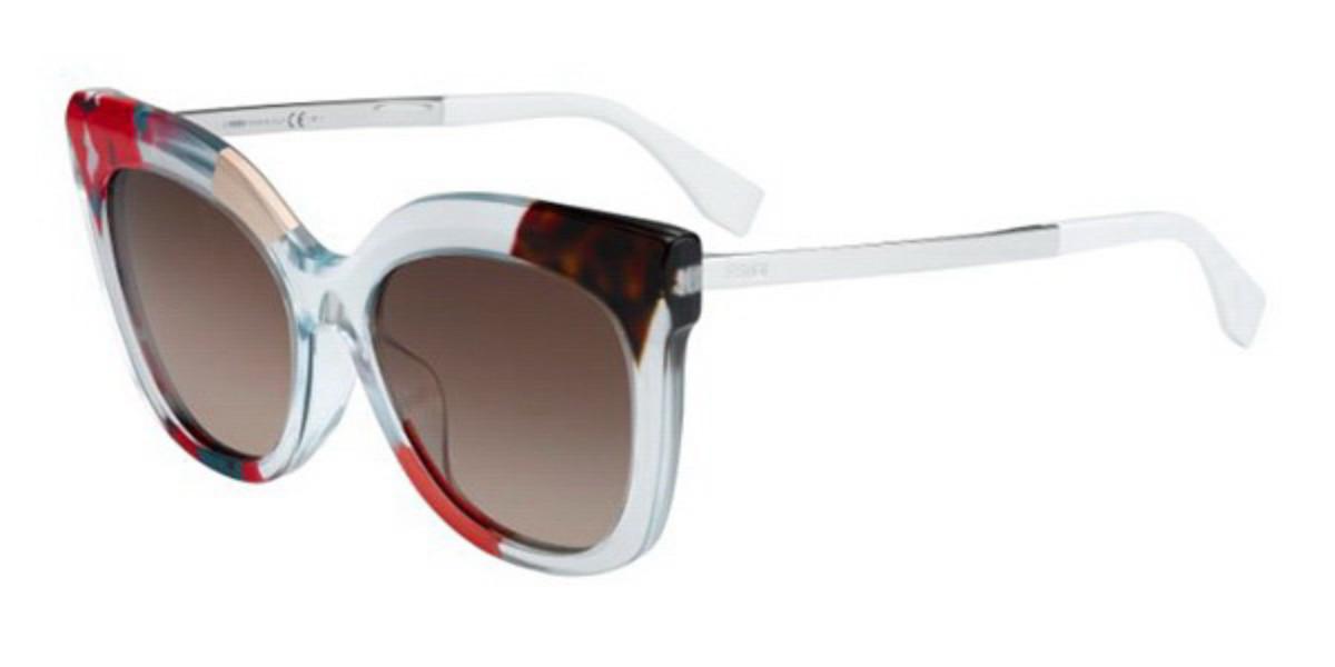 Fendi FF 0179/F/S JUNGLE Asian Fit TKV/J6 Women's Sunglasses  Size 55