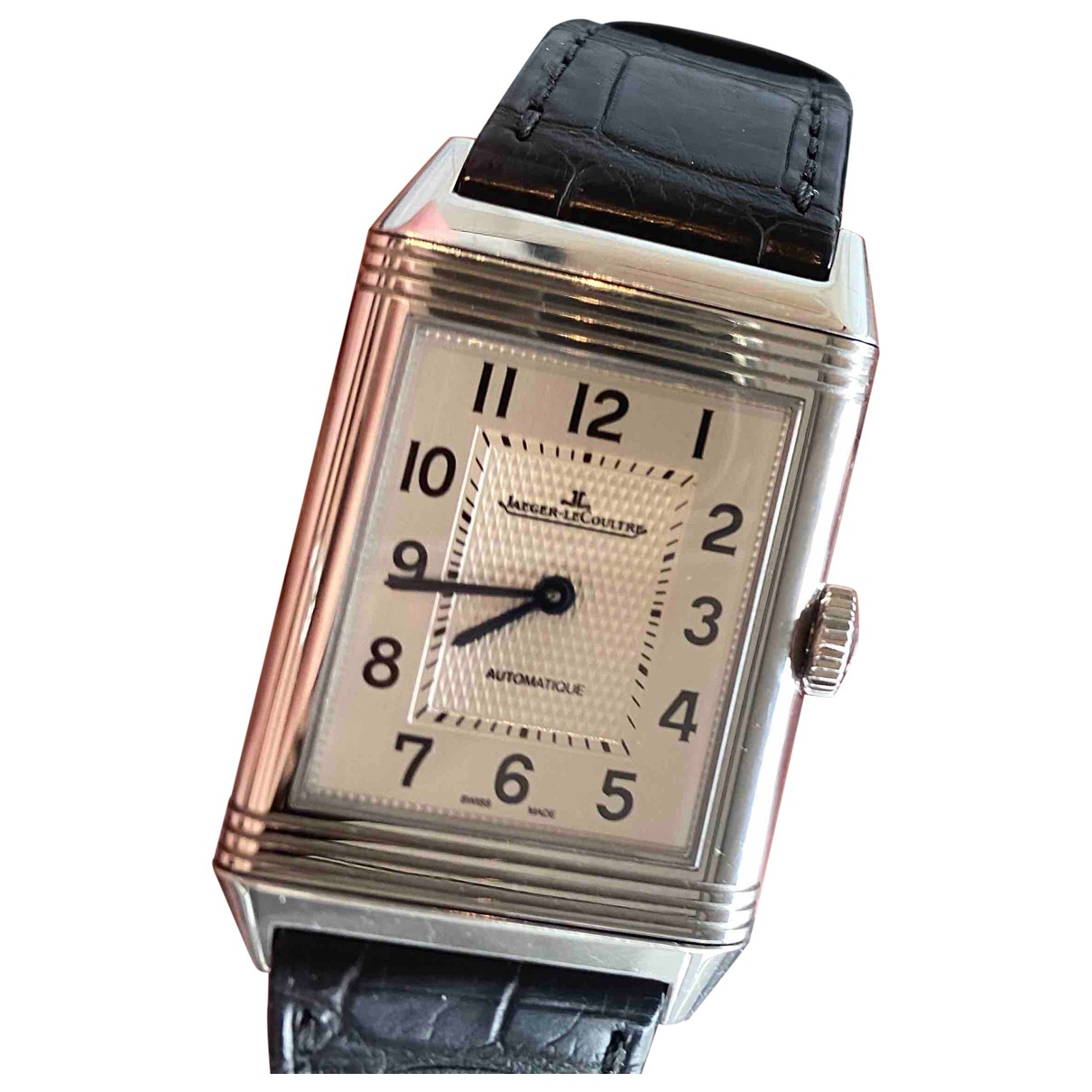 Jaeger-lecoultre Reverso Uhr in  Schwarz Stahl