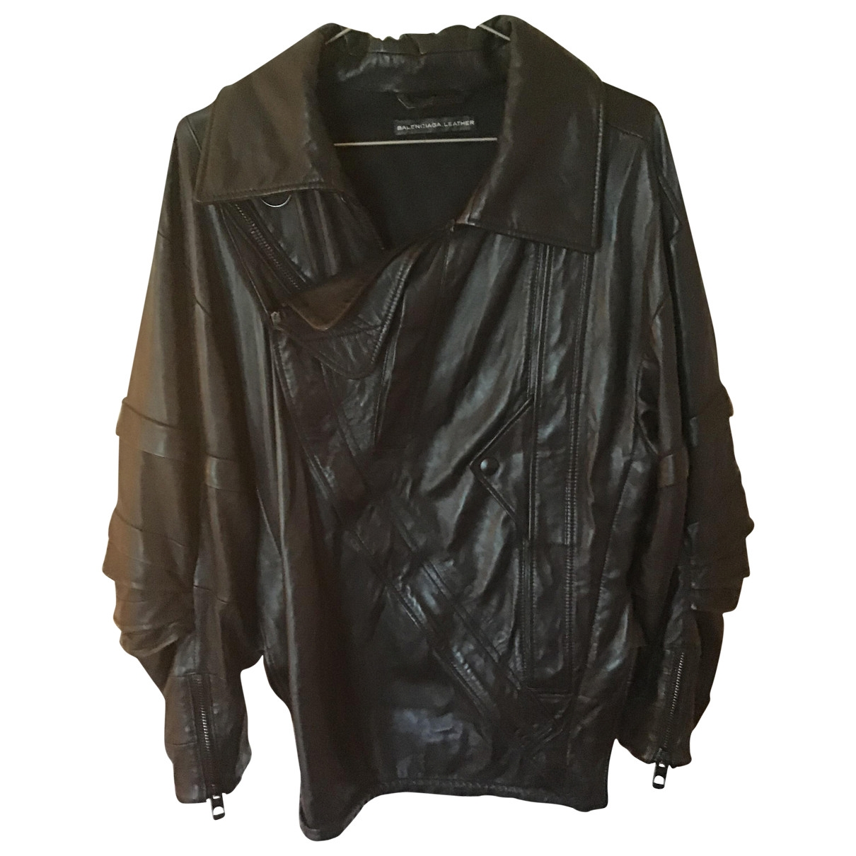 Balenciaga \N Black Leather jacket for Women 10 UK