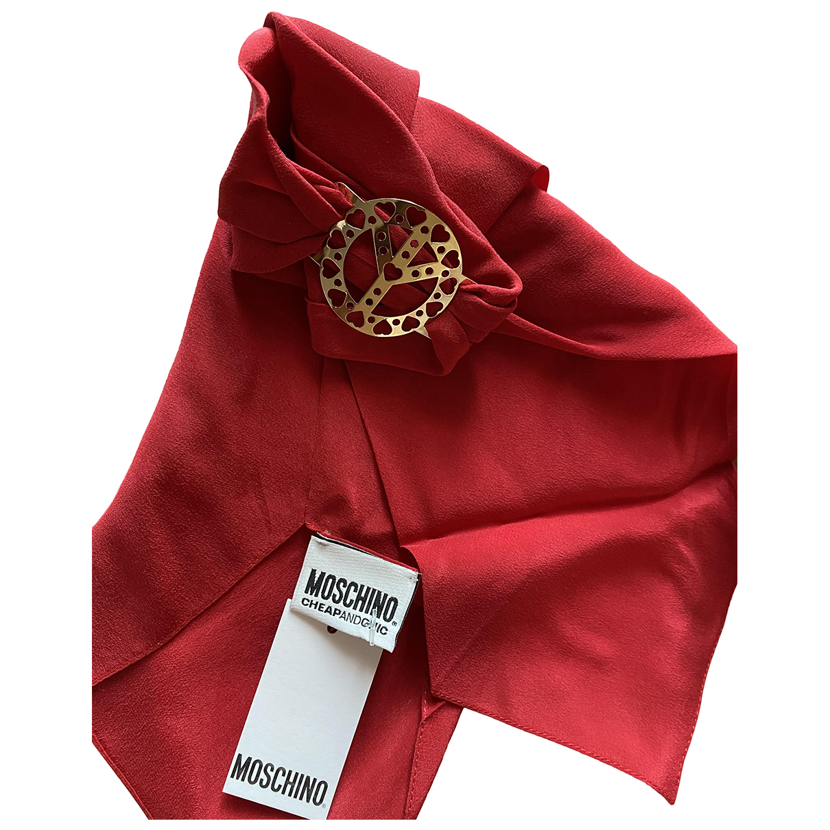 Moschino Cheap And Chic N Red Silk scarf for Women N