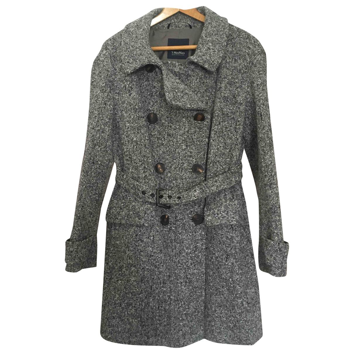 Max Mara 's \N Grey Wool coat for Women 44 IT