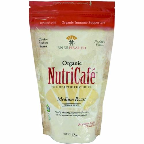 Nutricafe Organic Whole Bean Coffee 12 Oz by Enerhealth Botanicals