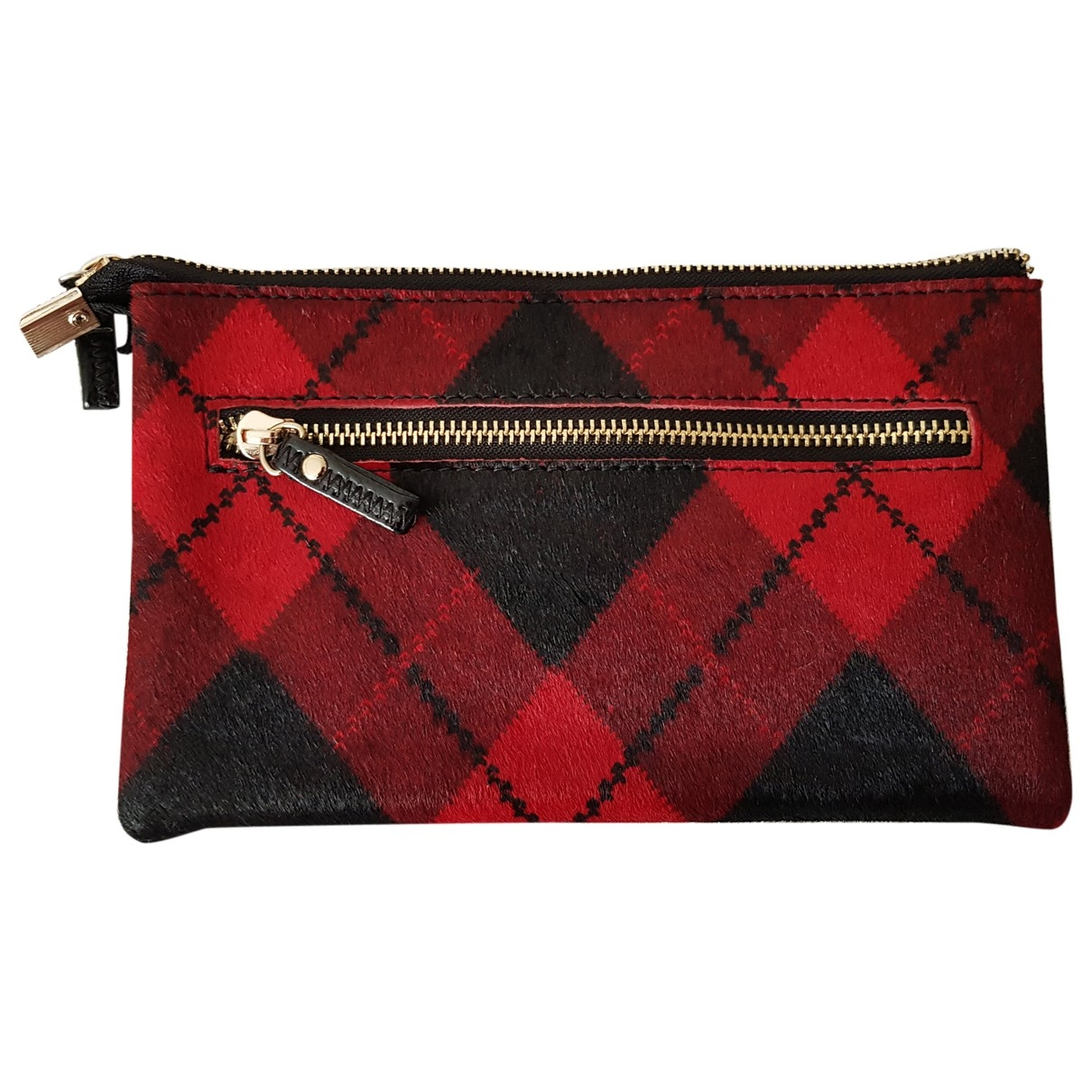 Essentiel Antwerp \N Red Pony-style calfskin Clutch bag for Women \N