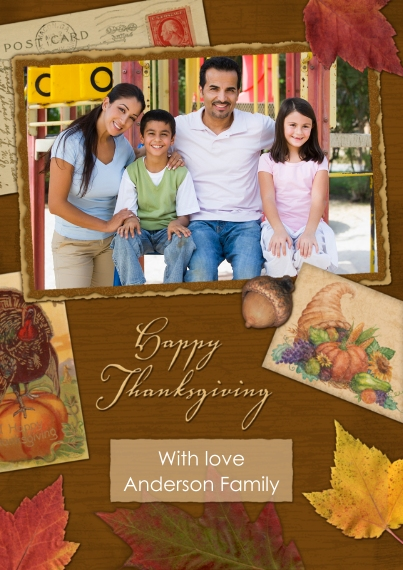 Thanksgiving Photo Cards 5x7 Cards, Premium Cardstock 120lb, Card & Stationery -Fall Collage