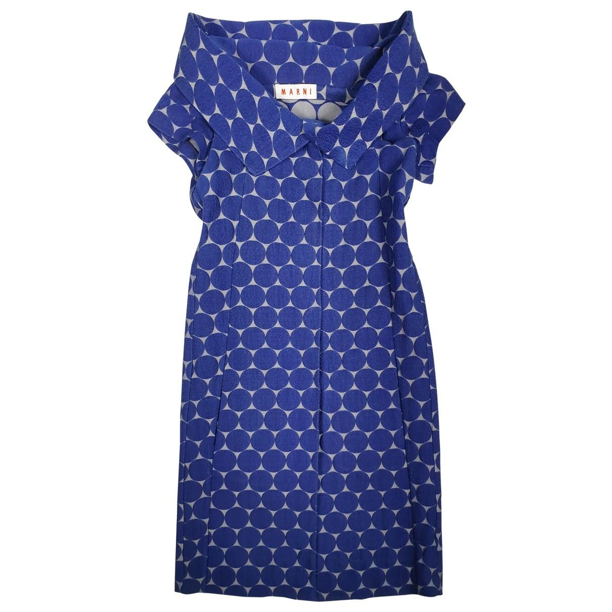 Marni - Veste   pour femme en coton - bleu