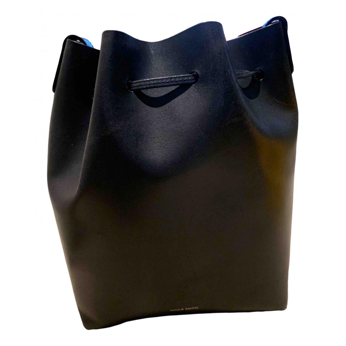 Mansur Gavriel Bucket Black Leather handbag for Women \N