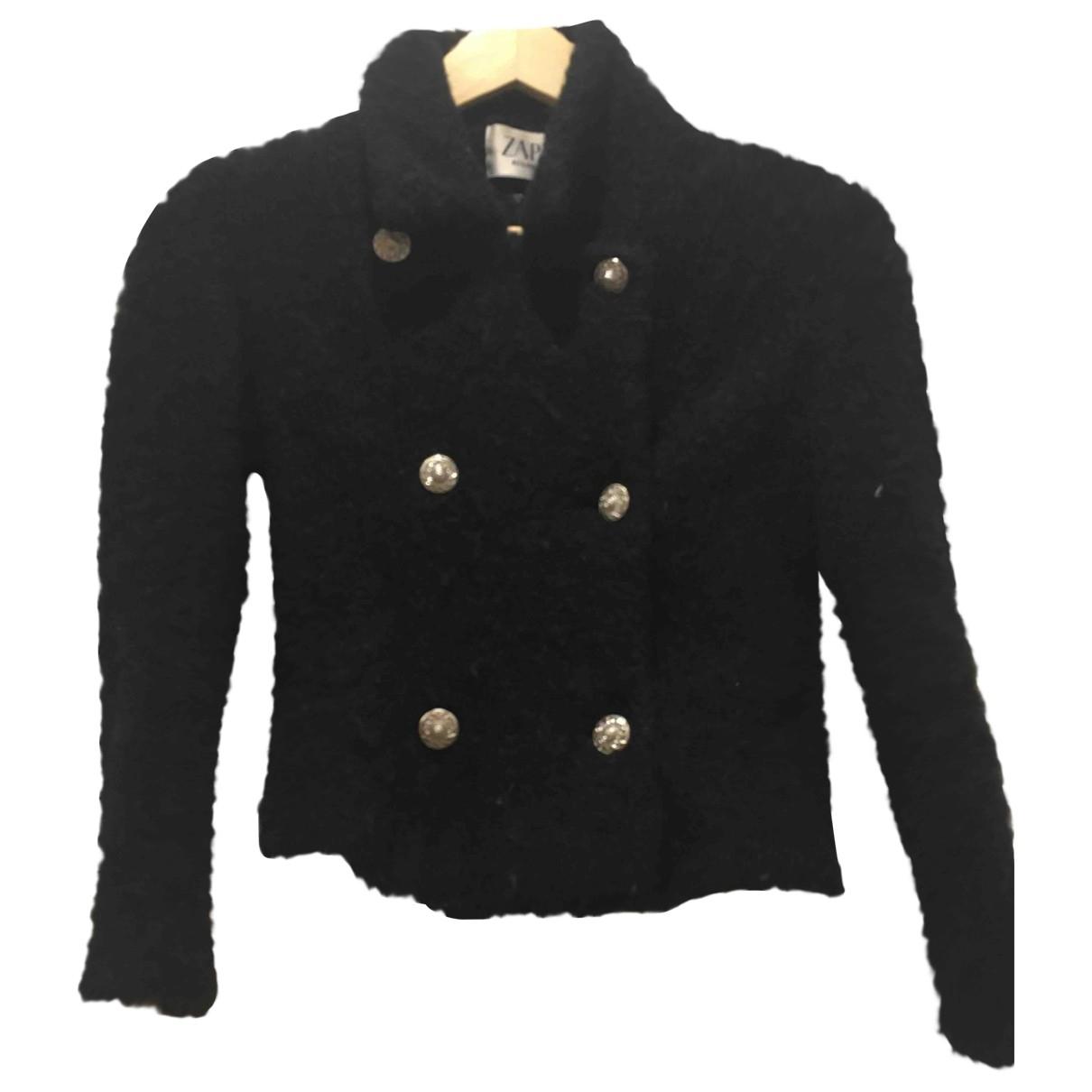 Zapa - Veste   pour femme en tweed - noir