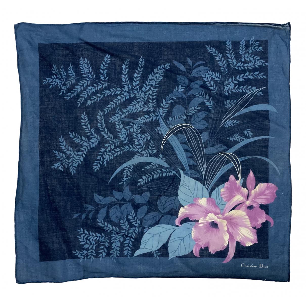 Dior N Blue Cotton Silk handkerchief for Women N