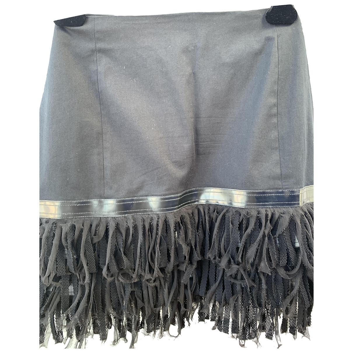 Fendi \N Black Cotton skirt for Women 44 IT