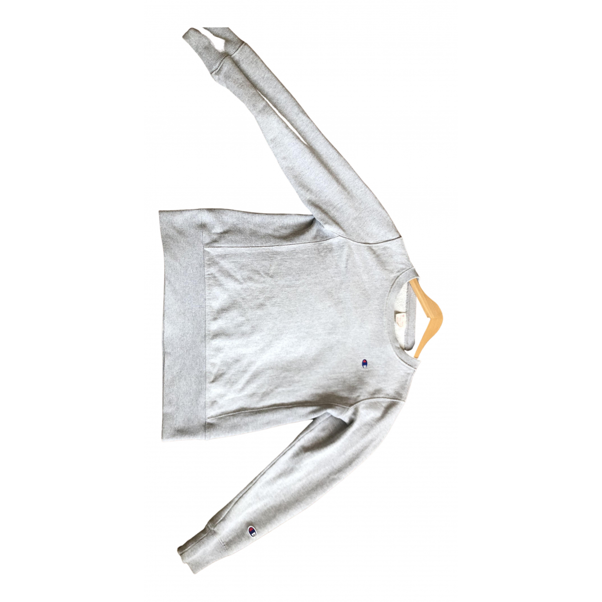 Champion - Pull   pour femme en coton - gris