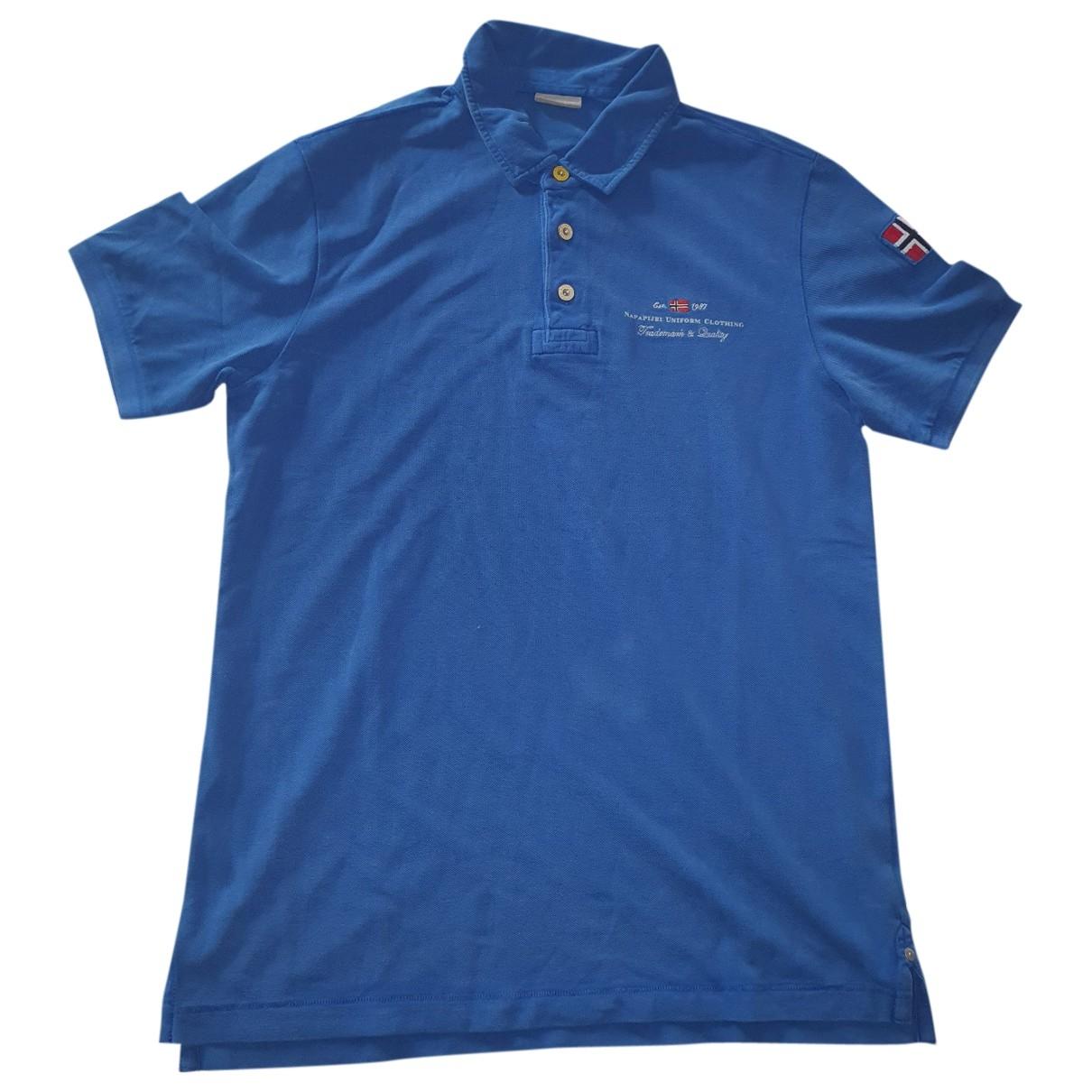 Napapijri \N Blue Cotton Polo shirts for Men L International