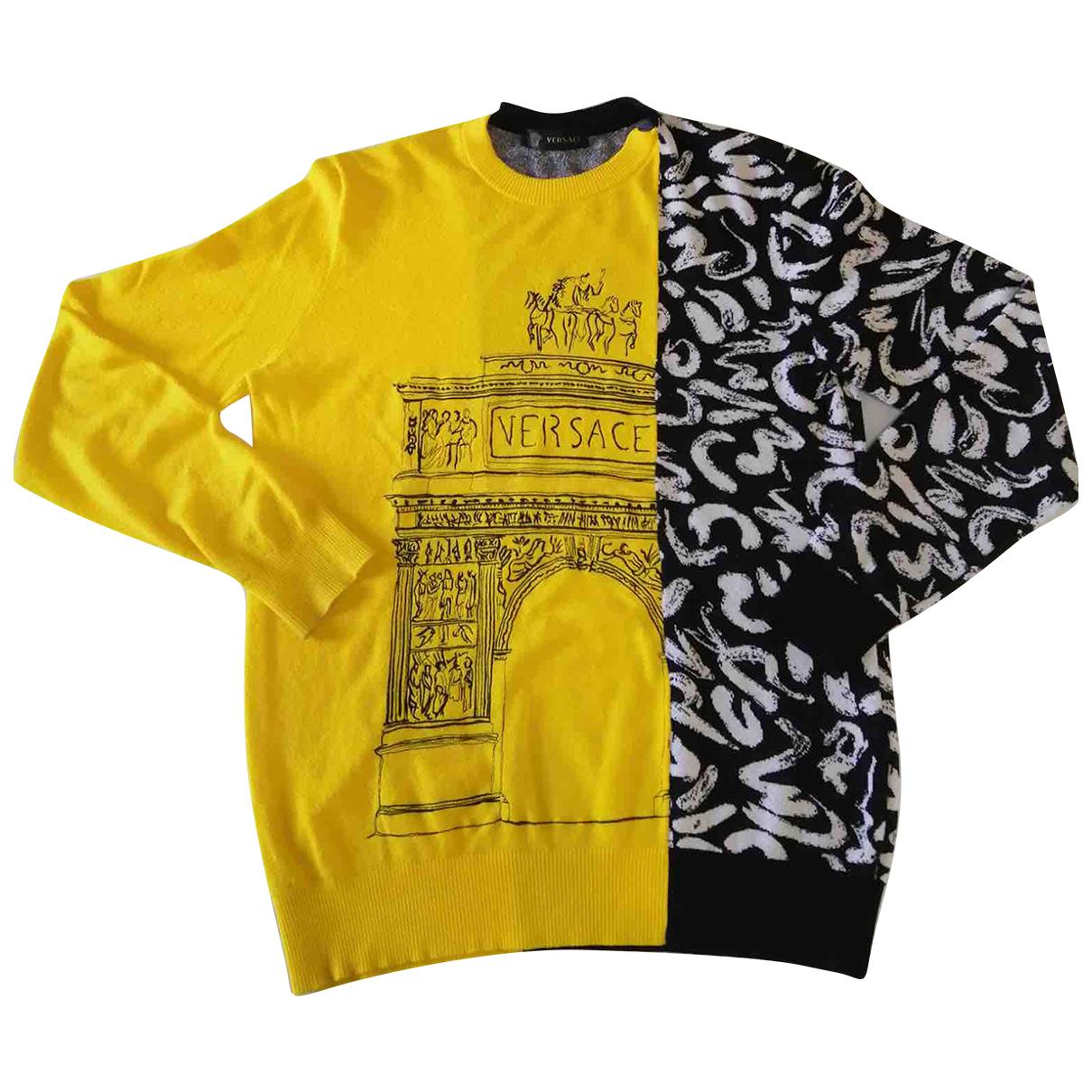 Versace - Pulls.Gilets.Sweats   pour homme en coton - jaune
