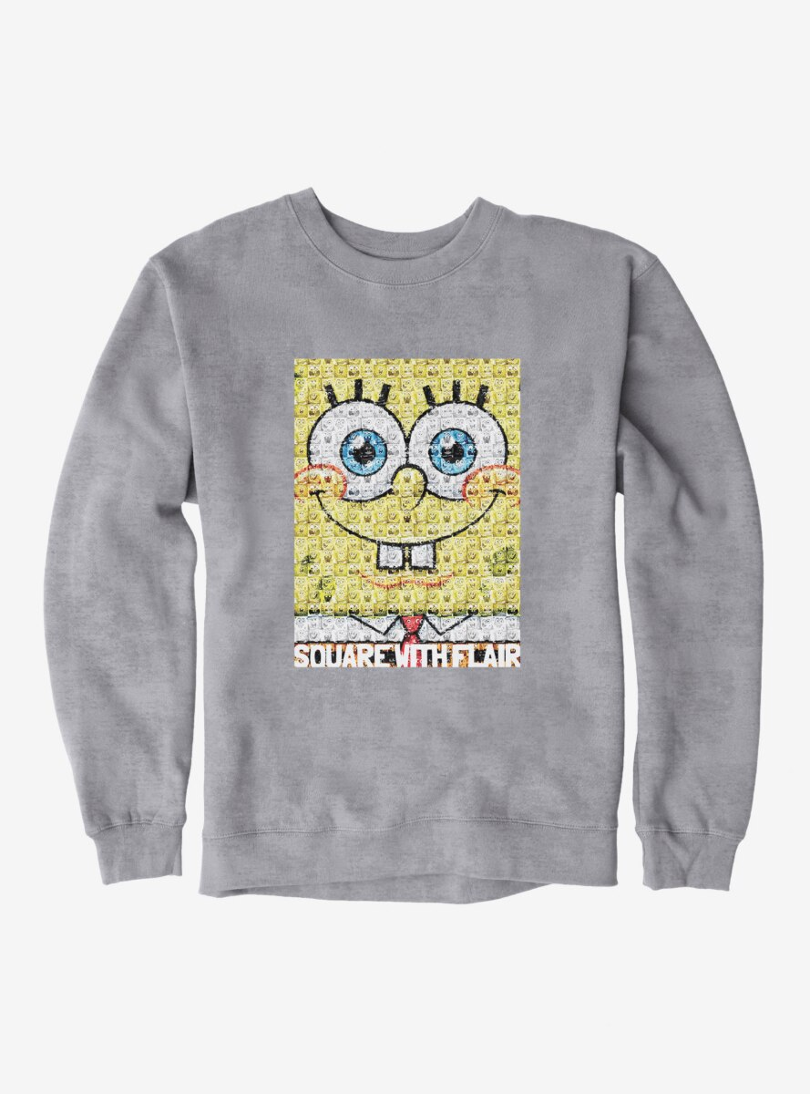 SpongeBob SquarePants Square With Flair Comp Photo Sweatshirt