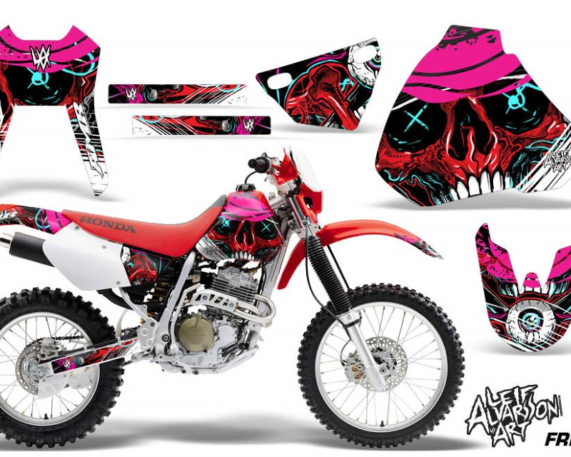 AMR Racing Dirt Bike Graphics Kit Decal Sticker Wrap For Honda XR400R 1996-2004áFRENZY RED