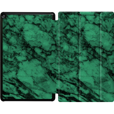 Amazon Fire HD 10 (2017) Tablet Smart Case - Green Marble von caseable Designs