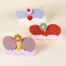 3pcs Toddler Girls Monkey Decor Headband