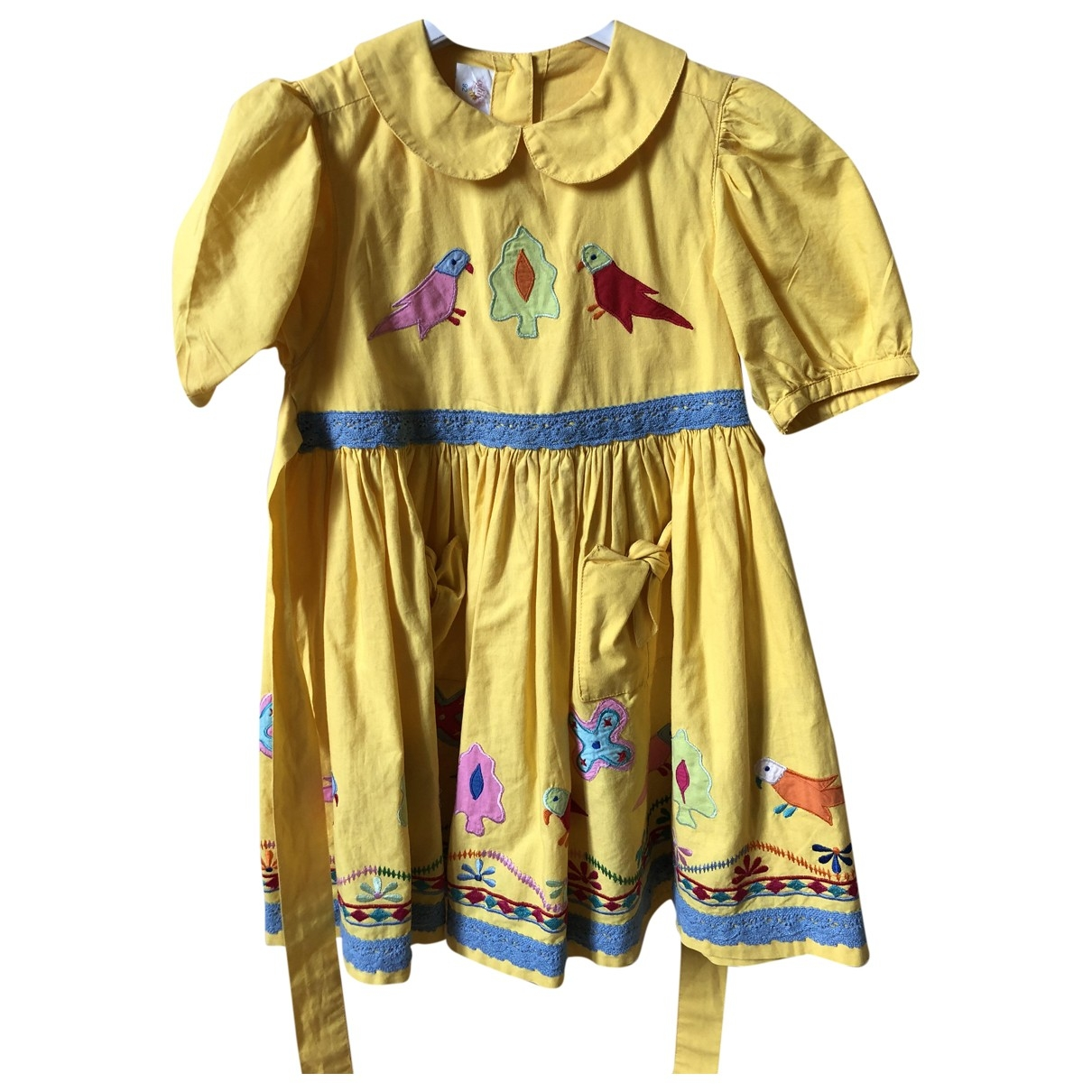 Non Signé / Unsigned \N Yellow Cotton dress for Kids 3 years - up to 98cm FR