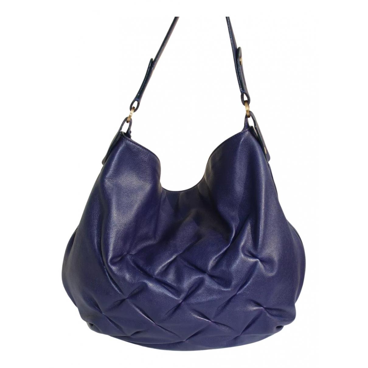 Smythson - Sac a main   pour femme en cuir - violet
