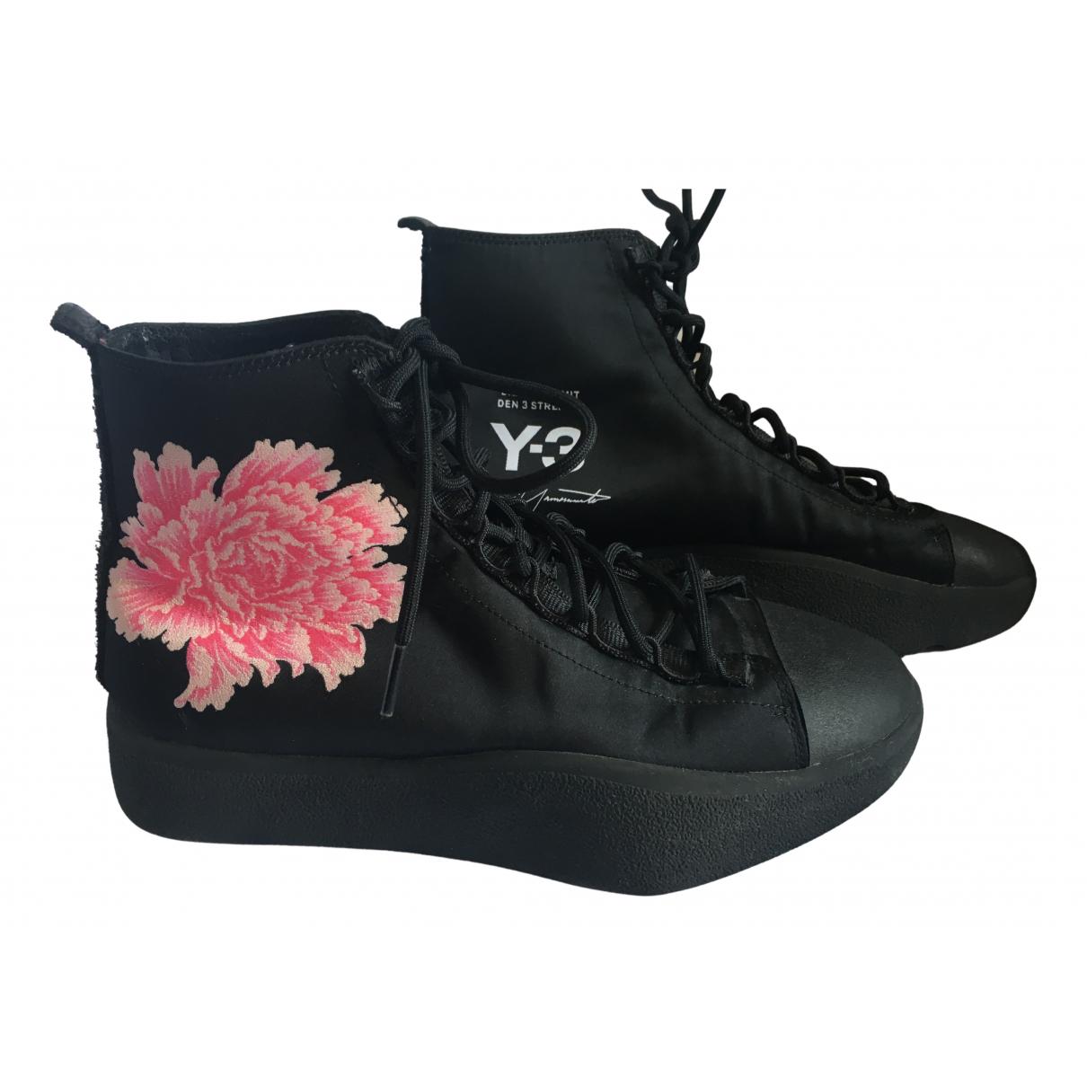 Y-3 By Yohji Yamamoto \N Sneakers in  Schwarz Leinen