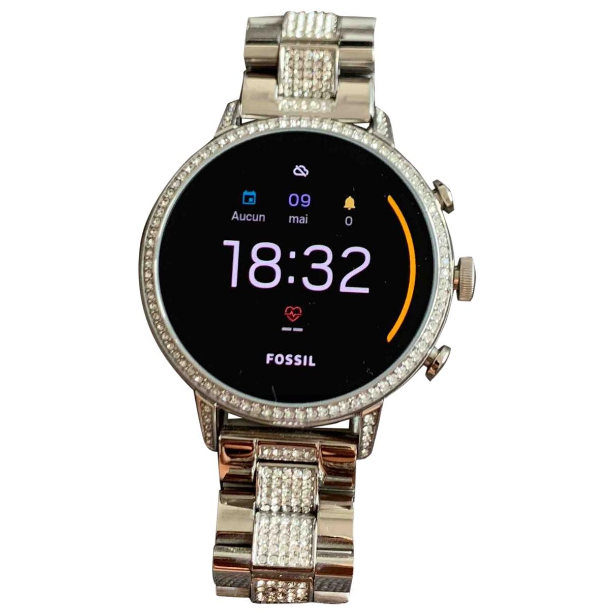 Fossil \N Silver Steel watch for Women \N