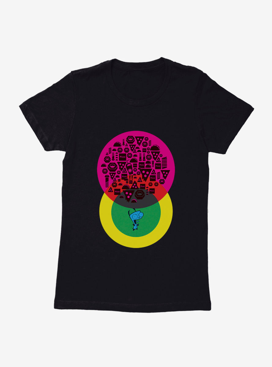 Invader Zim Gir Tacos And Pizza Womens T-Shirt
