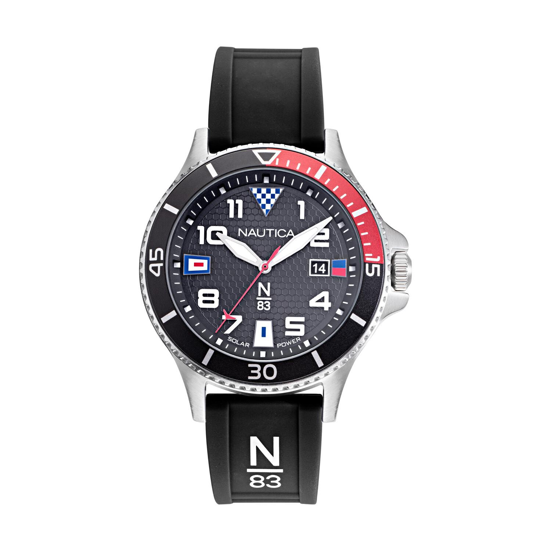 Nautica Men's Cocoa Beach NAPCBF914 Black Silicone Quartz Fashion Watch