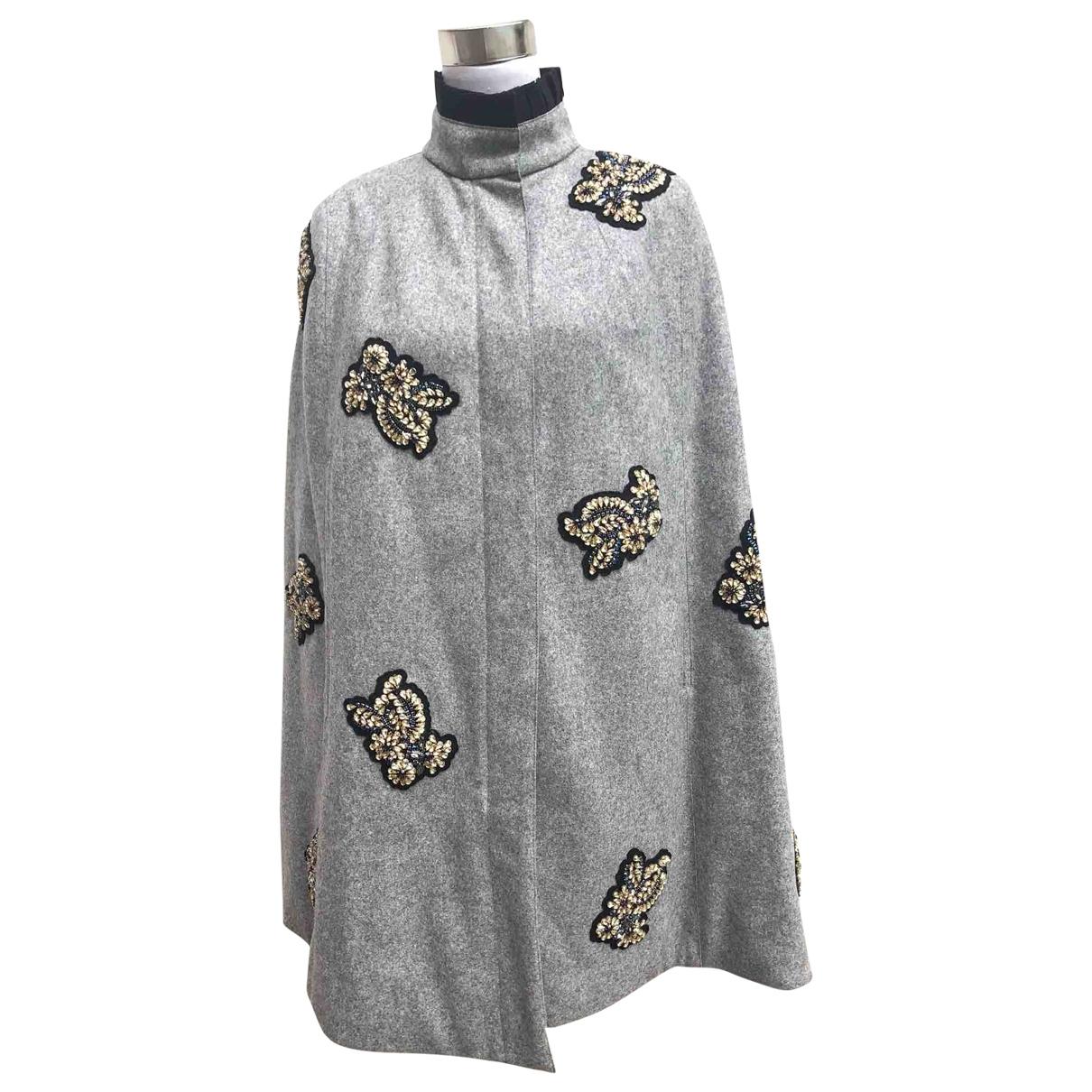 Moncler \N Maentel in  Grau Wolle