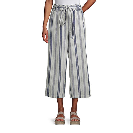 a.n.a Mid Rise Belted Cropped Pants, X-large , Purple