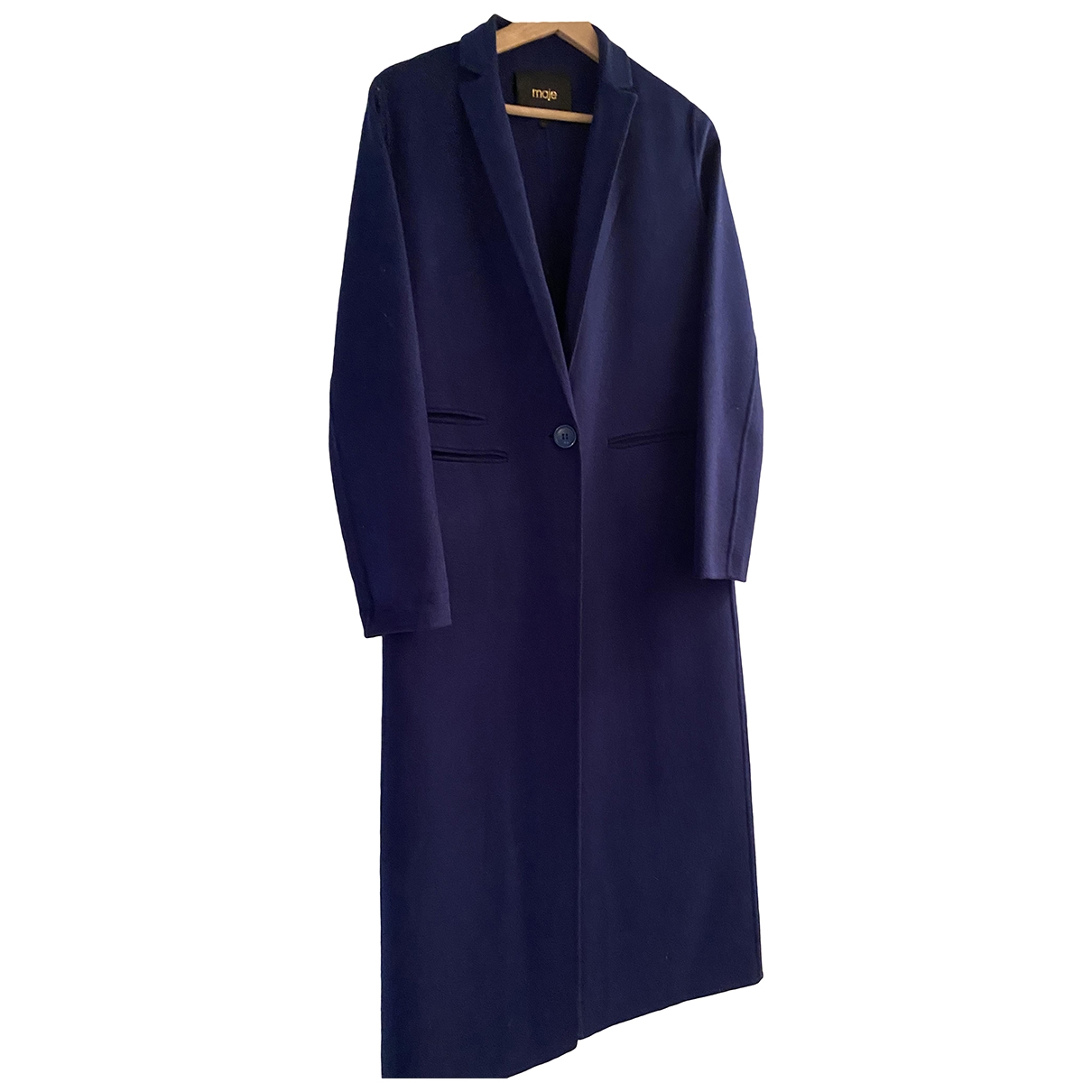 Maje \N Blue Wool coat for Women 36 FR