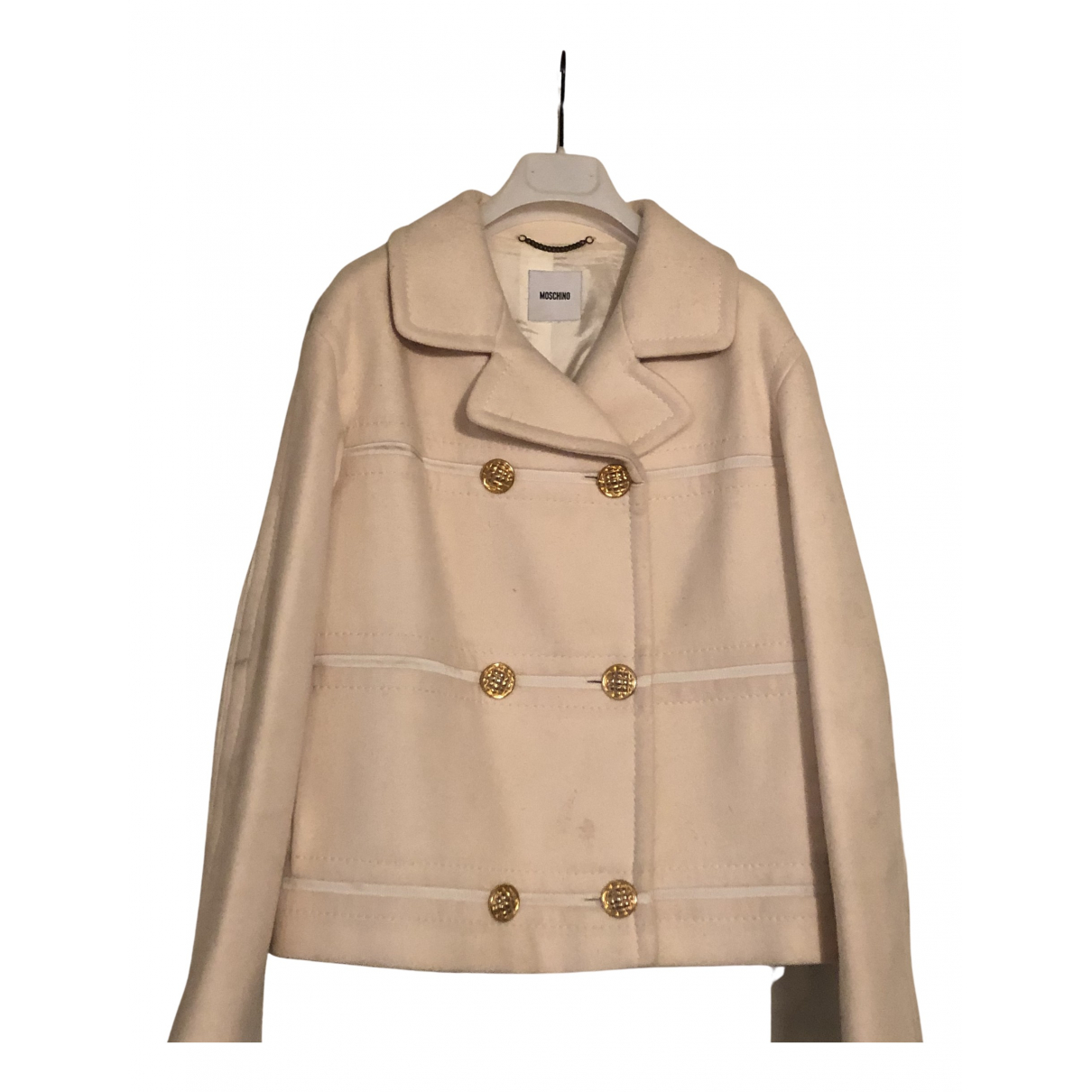 Moschino \N Jacke in  Weiss Wolle