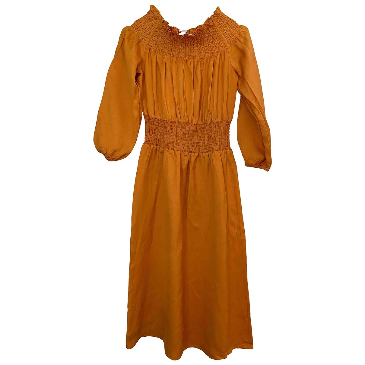Maje Spring Summer 2019 Yellow dress for Women 3 0-5
